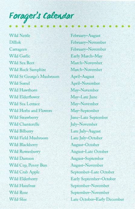 Foragers calendar