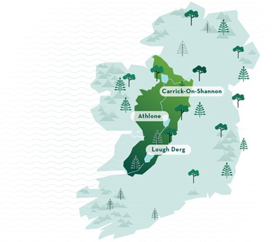 Irelands Hidden Heartlands Map